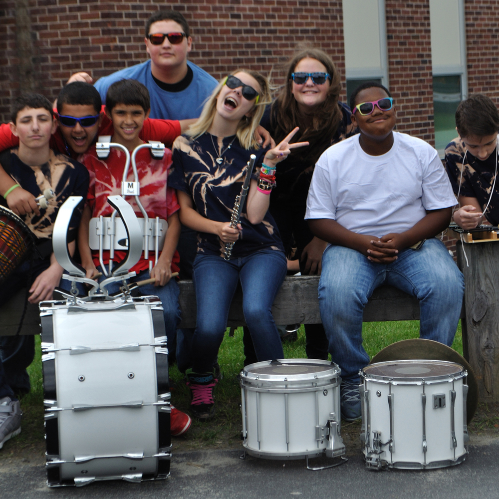 Livingston Manor Junior High School Band.    11th Annual Trout Parade, June 14, 2014.   Photo by Elizabeth Ennis.