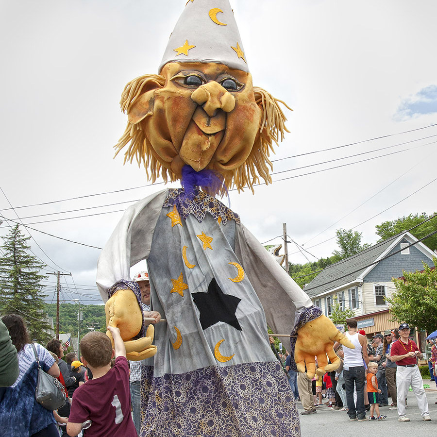 Catskill Puppet Theater.   10th Annual Trout Parade, June 8, 2013.   Photo by Ted Pilonero.