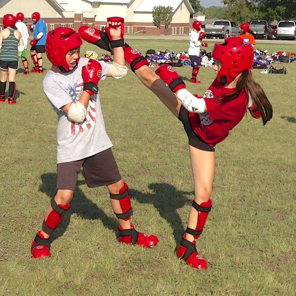 Our teen students develop real self-defense skills as well as agility, flexibility, speed, focus and many other athletic skills.