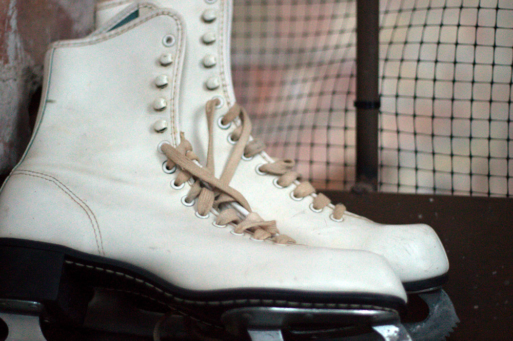 Ice Skates taken by the Girl Scouts!