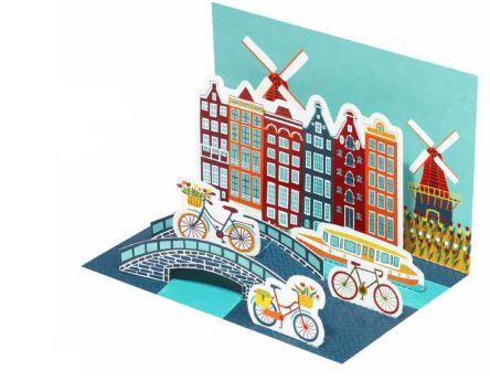 Amsterdam Diorama Postcard
