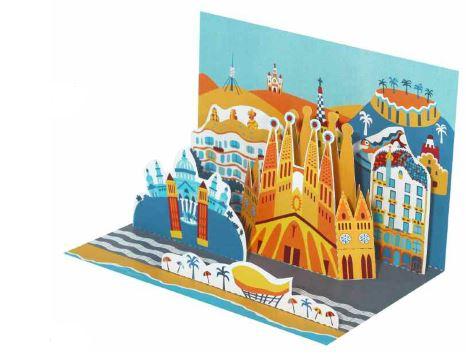 Barcelona Diorama Postcard