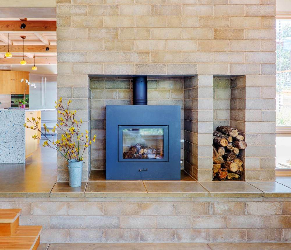 Reduced Cement Watershed Block In A Sustainable Residence in Sonoma County California