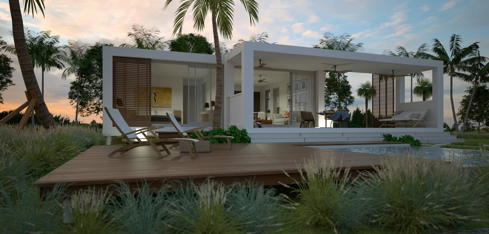 Modular, pre-engineered homes by Cubicco embrace the challenge of designing the most sustainable homes possible, built to withstand extreme natural conditions including hurricane force winds.