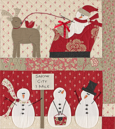 Merry Merry Snowman Quilt Kit The Stitching Well