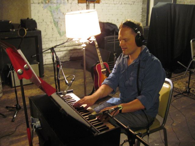 tracking harmonium for producer Michael Morris at The Barn Studio in Northfield, MN