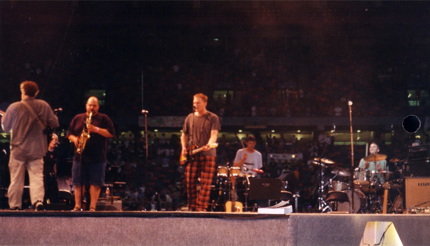 Here I am playing in the Louisiana Superdome for 38,000 people! Nice pants.