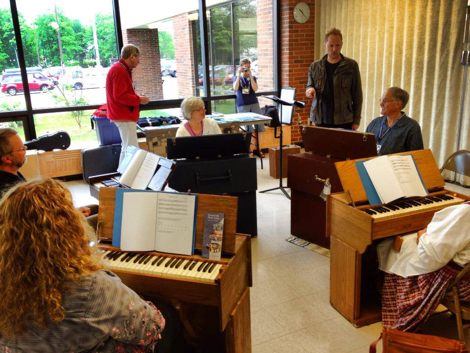 Here I am teaching a harmonium workshop at FinnFest USA 2013 on the campus of Michigan Technological University in Houghton, MI.