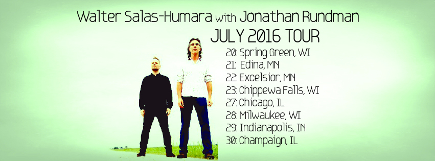 Psyched to be heading out on tour with Walter Salas-Humara.