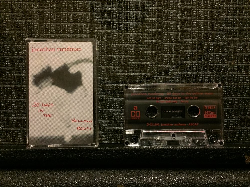 My first album is 25! - Yes, exactly a quarter century ago I recorded and released my debut album 28 DAYS IN THE YELLOW ROOM. In celebration I'm providing the last few copies of the original CASSETTE TAPE pressing for $5, as well as the 2003 limited-edition CD reissue for $5. ORDER HERE at my BandCamp page.