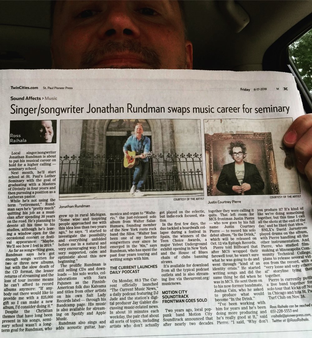 surprise press coverage... - The Pioneer Press newspaper here in the Twin Cities felt like my career evolution was newsworthy... and I had no idea they were going to write about it!Check out this feature article online HERE.