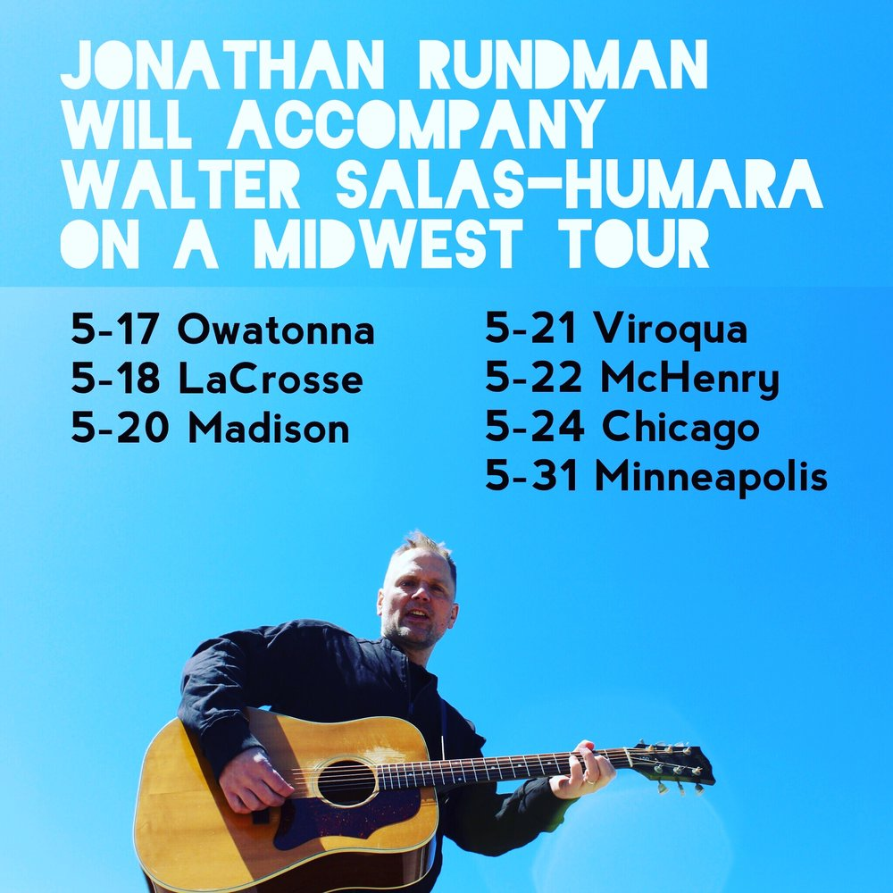 MIDWEST TOUR - In May 2019 I'll be coming out of retirement for a series of performances across the Midwest with brilliant songwriter Walter Salas-Humara of The Silos! Check us out along the Twin Cities / Madison / Chicago corridor and places in-between! More info at the DATES page.