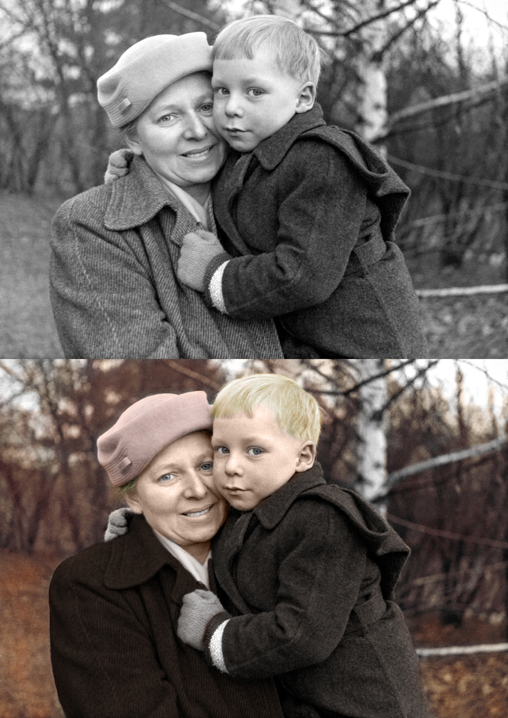 This is an image I simply colorized. The fee for colorizing an image will range from $40-$75 depending on how detailed the image is.