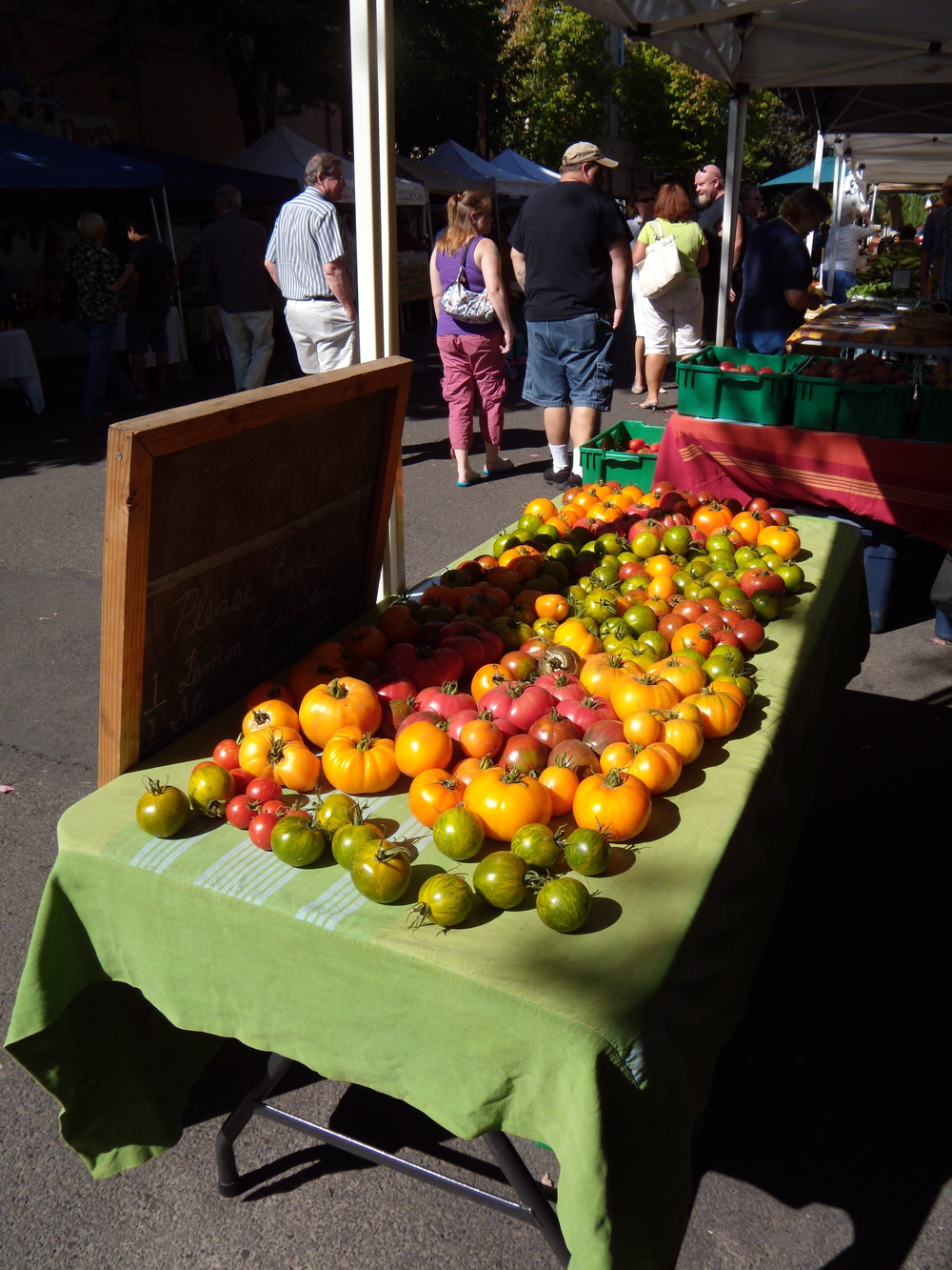 Heirloom Tomatoes at Market