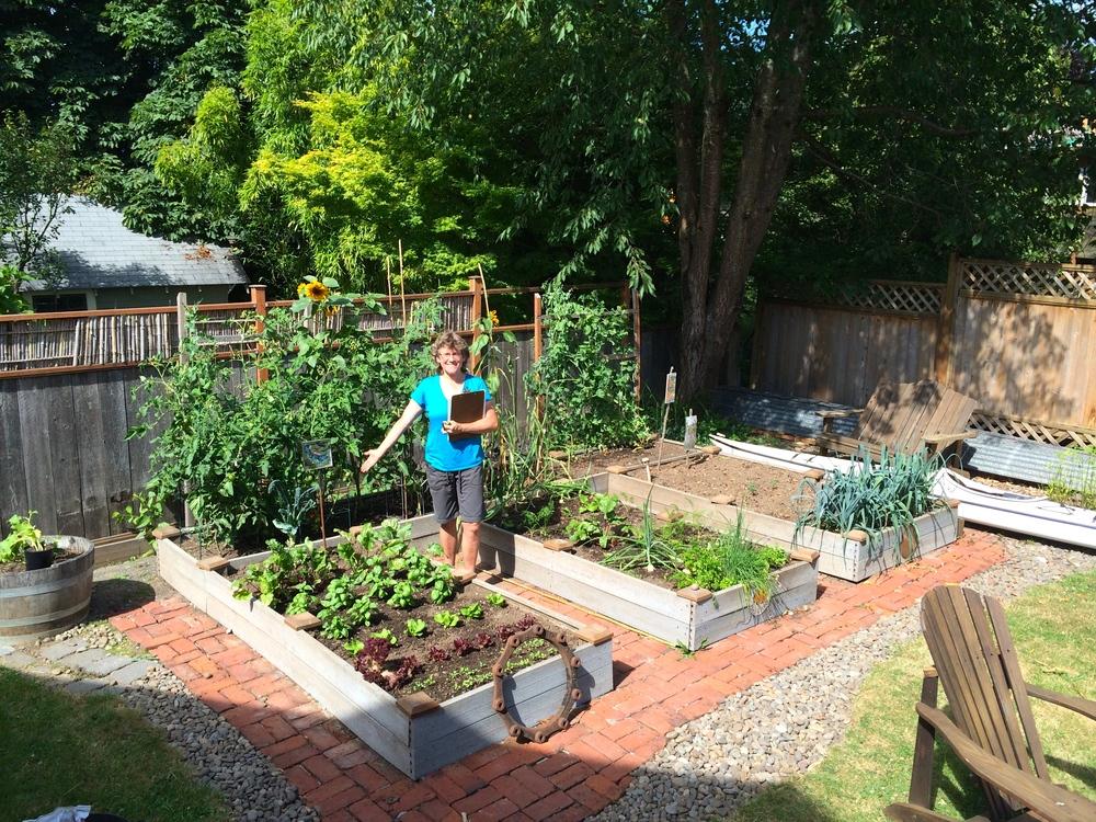 A proud gardener