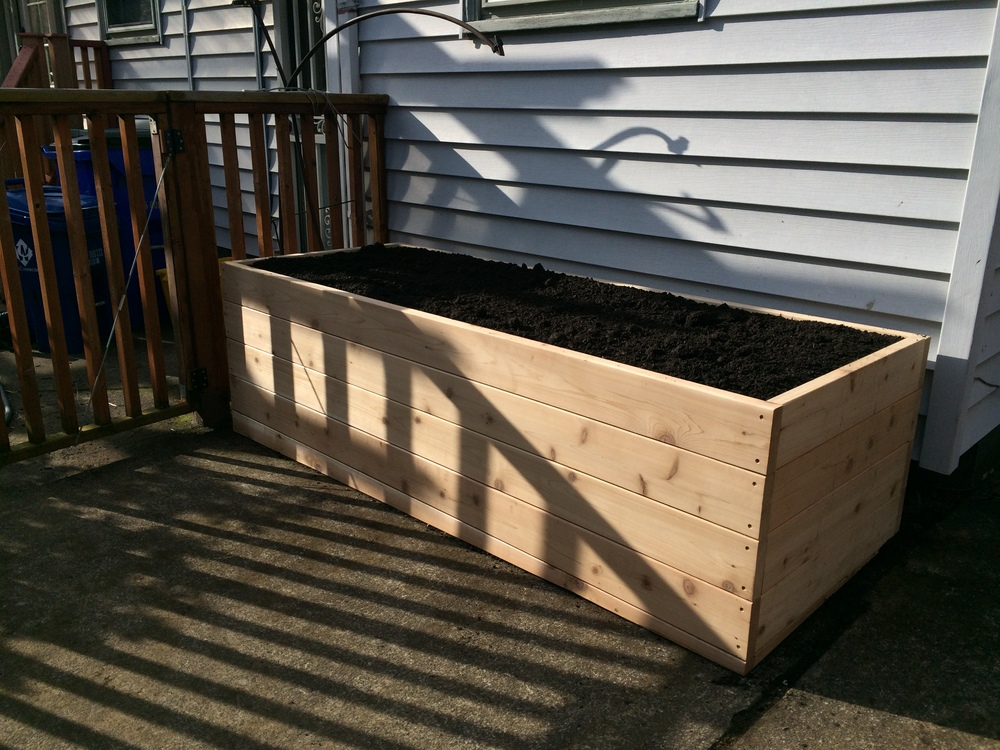 "24"" tall raised garden bed"
