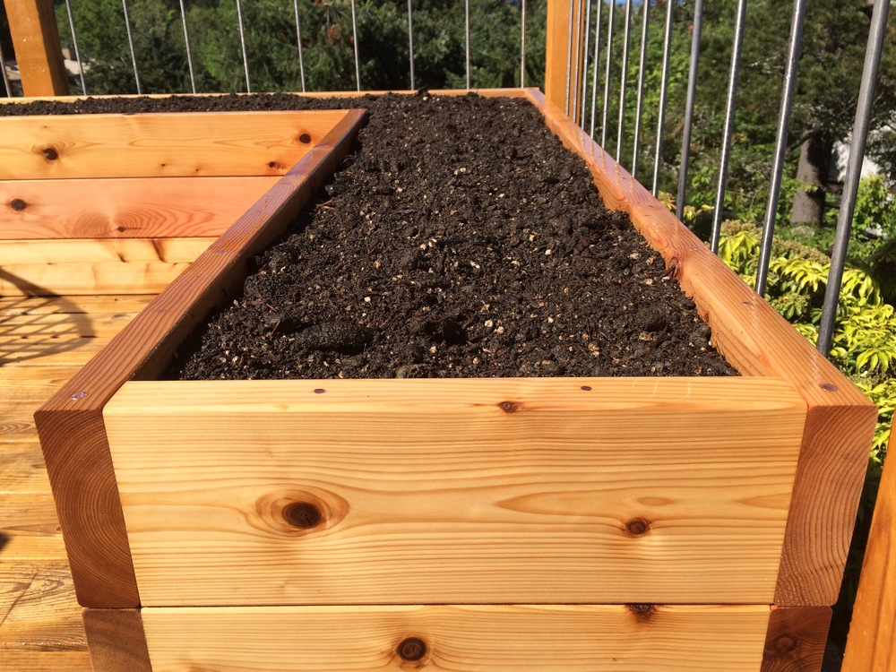 L Shaped Raised Garden Bed #2