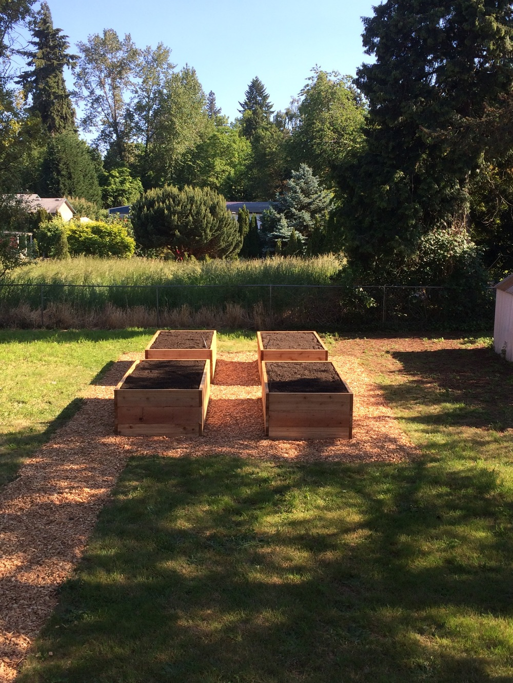 rough cut cedar beds (finished)