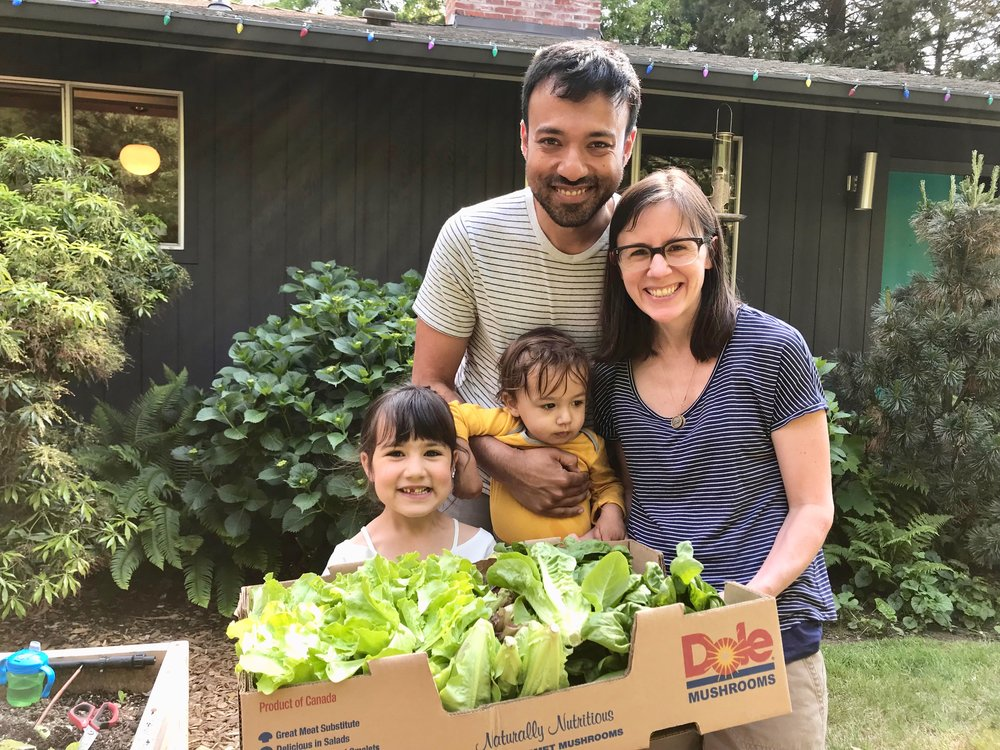This sweet family grew their first vegetable garden ever this year! …No shortage of salad greens today