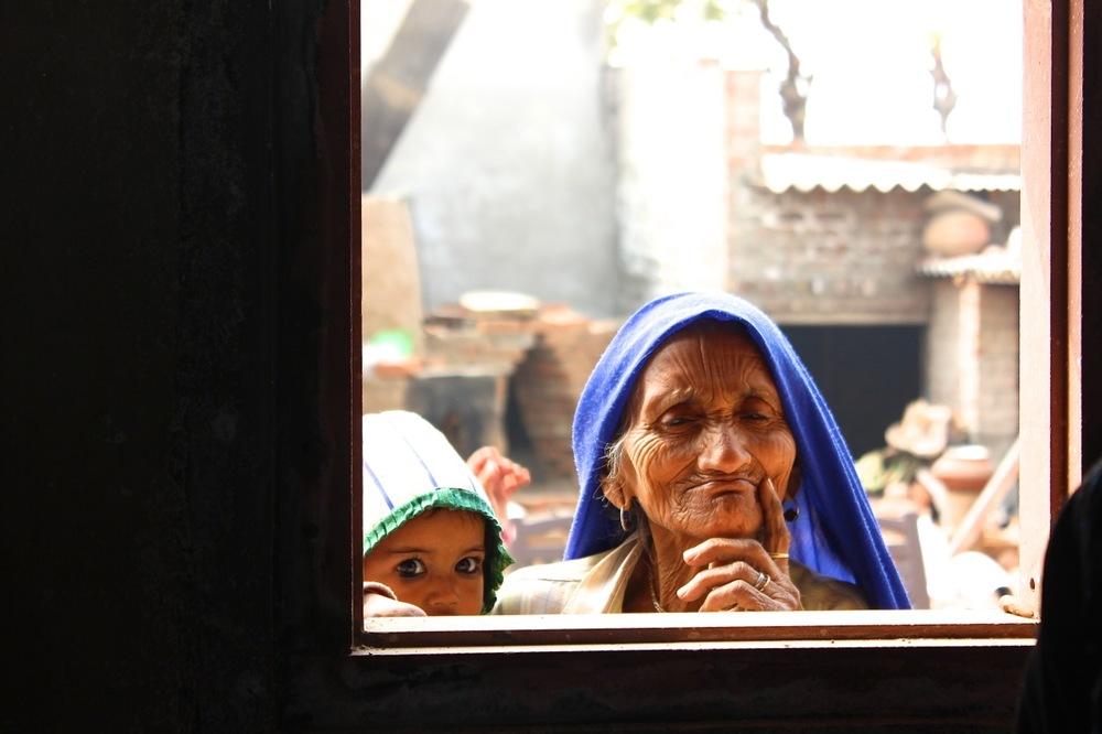 Om Prakash's grandmother, photo Claire Atkins