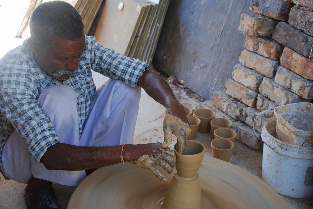 Manohar lal making 'beakers' for Mr k 120.jpg