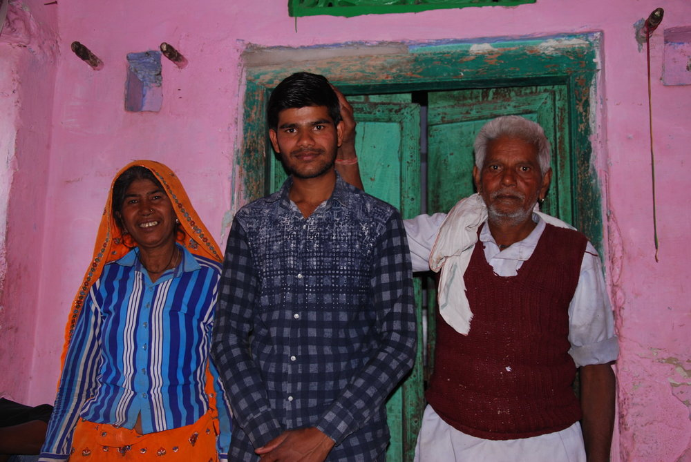 Vinod Prajapati and parents