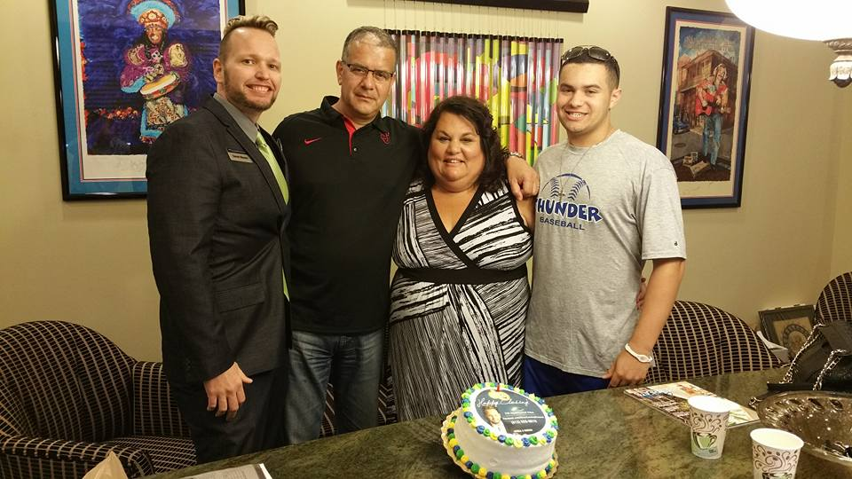 Congratulations to the Hernandez family on closing their new home in Florida. Good bye, snow, hello warm weather!