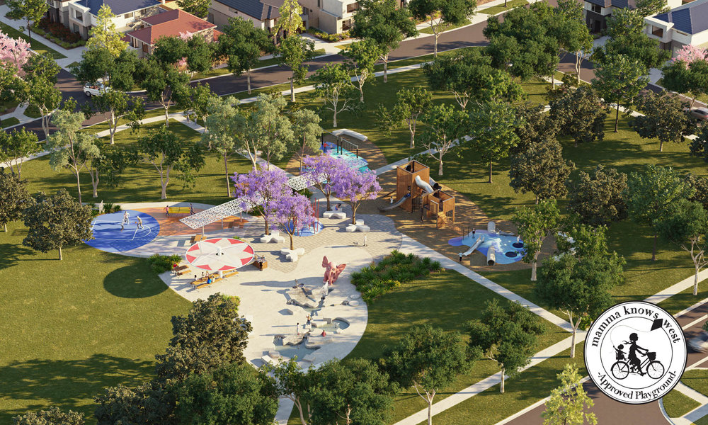 Plans and design for Newhaven's Navigation Park - complete with water zone and trampolines!