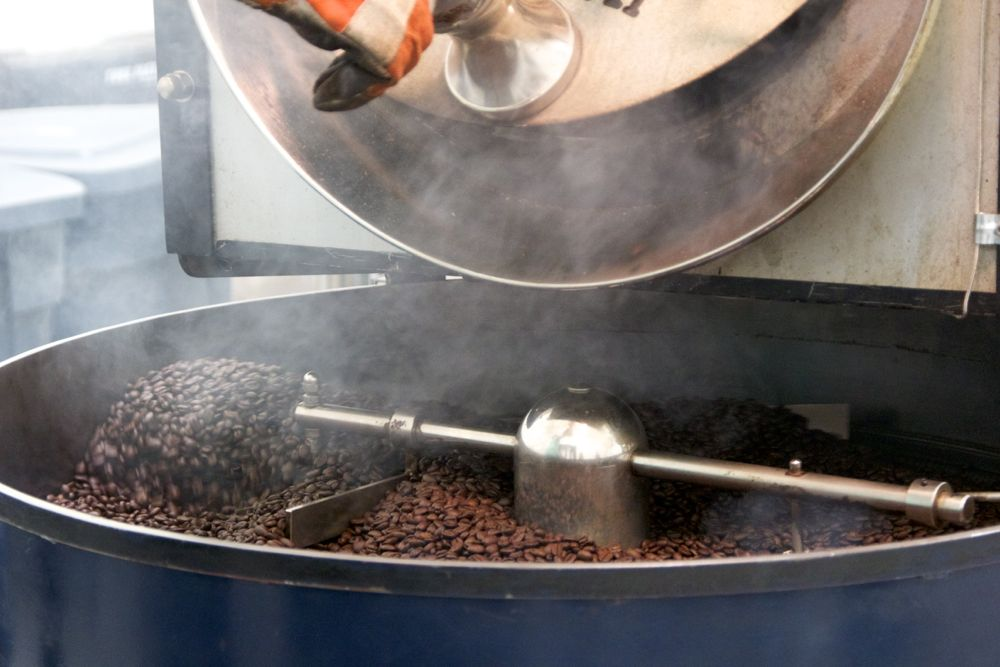 Small batch roasting on Caffe Luxxe's vintage Probat.