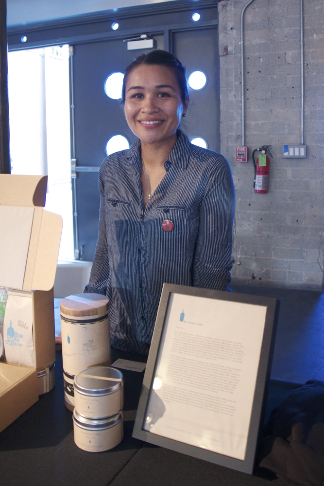 Selina representing  Blue Bottle Coffee  of San Francisco