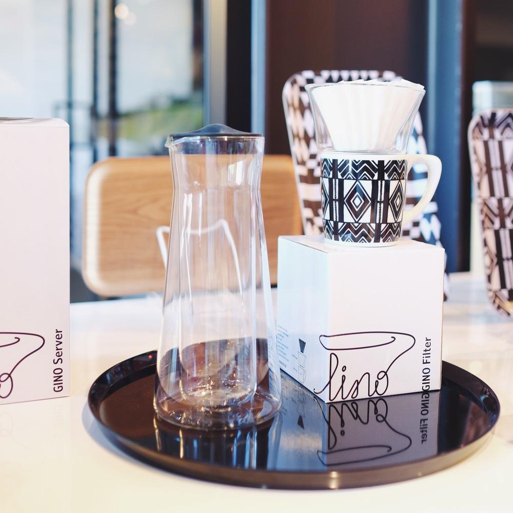 GINO Dripper, GINO server & Cooper Hewitt/notNeutral LINO mug