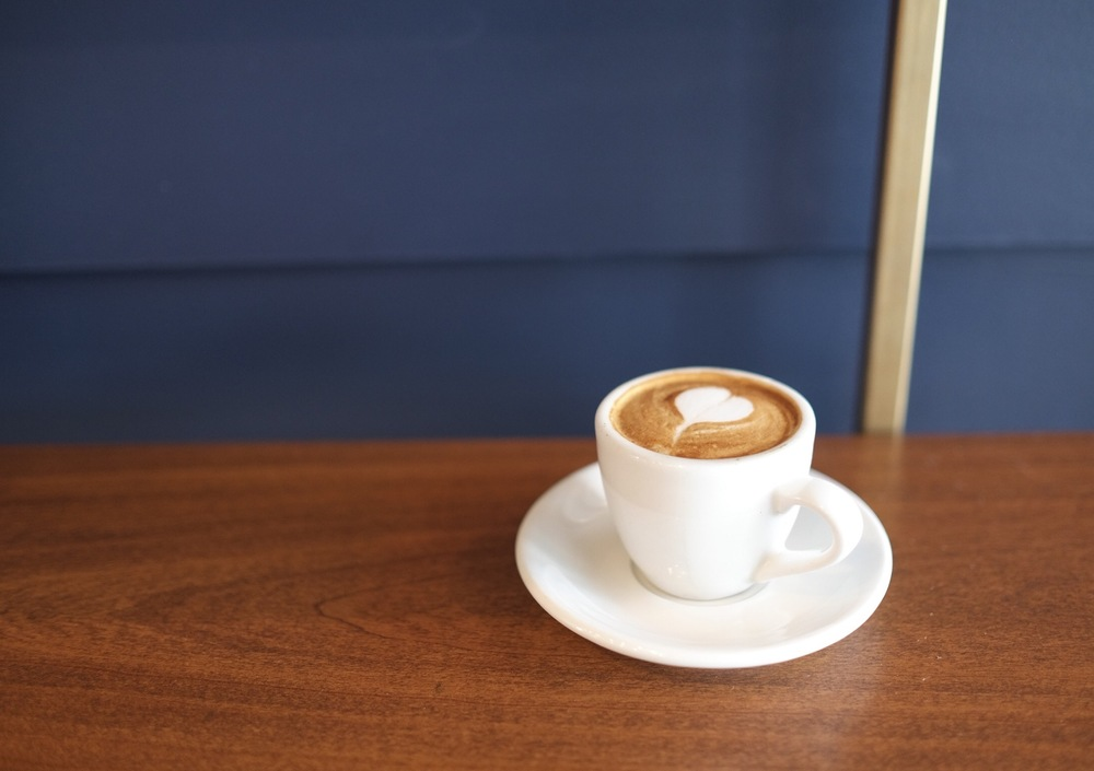 Fresh Almond Milk Macchiato, Civil Coffee, Los Angeles