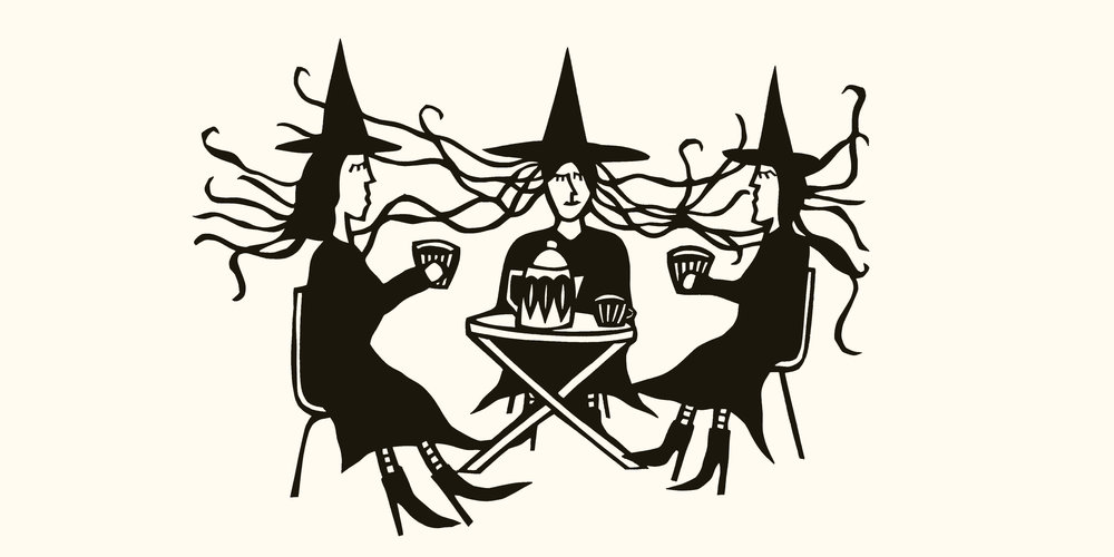 Witch Fika, paper cut by Anna Brones