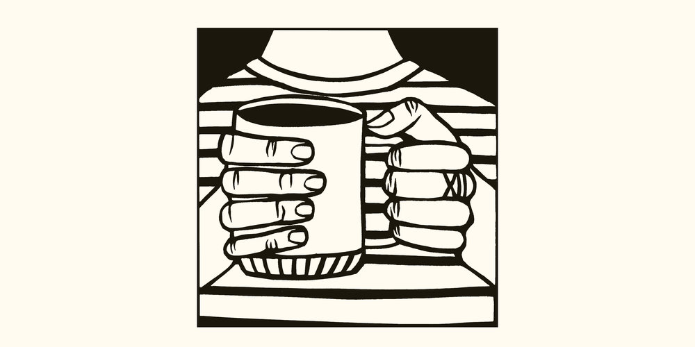 Coffee Self Portrait, papercut by Anna Brones
