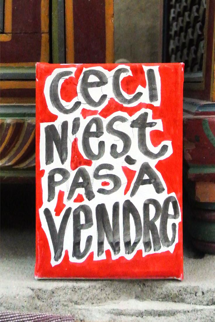 «Not For Sale », Mohammed Bourouissa @ Bazaar Ali Baba – Marchand de Tapis