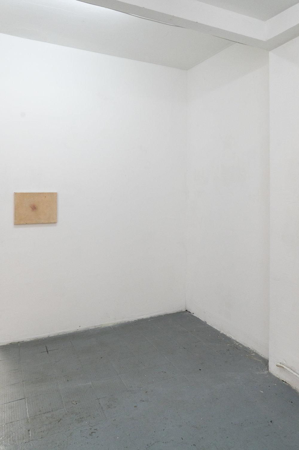 Romain SARROT  Bleu N° 25 , silicone sur toile, 2018