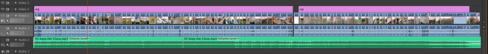 Premiere Pro CS6 Project Timeline - A simple single video track sequence with vignette adjustment layer