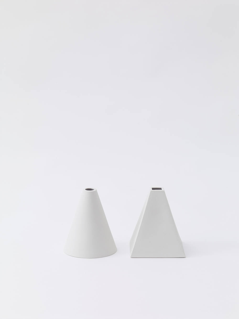 Cone + Pyramid   unglazed