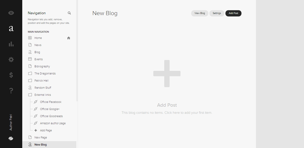THE BLOG : Squarespace's blog is simple enough. There are a few options, and it is easy to use. I suppose that it may not be as good as a service strictly focused on blogging, but it is enough for me.