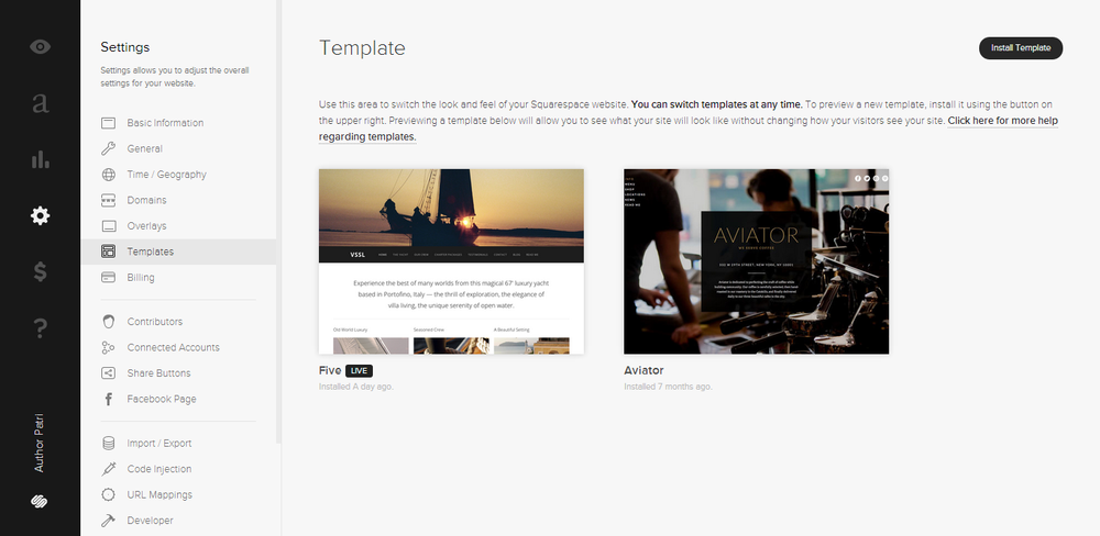 SWITCHING TEMPLATES : Switching templates is simple, and you may find a better fit.