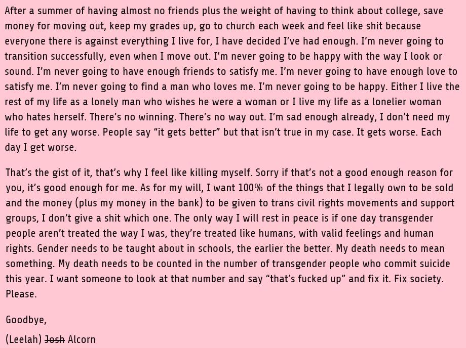 Leelah Alcorn's suicide letter 3