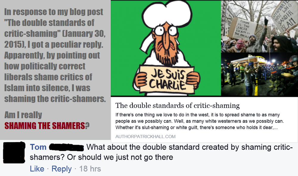 Shaming the shamers? Really?