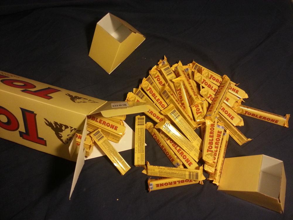 Toblerone unboxing 4