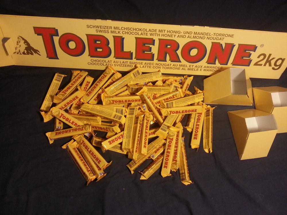 Toblerone unboxing 6