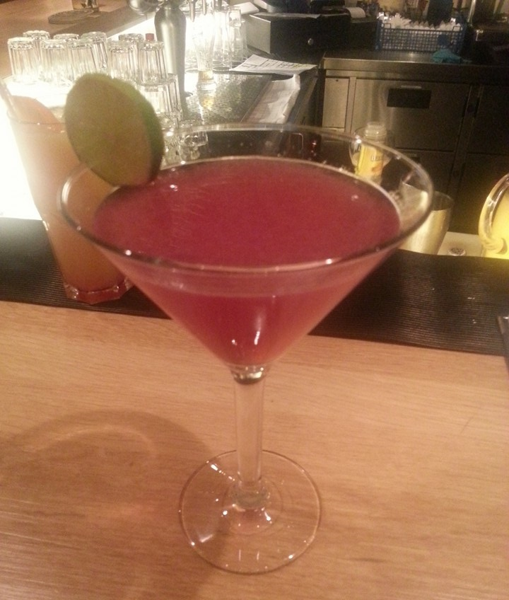 "Drinking a cosmopolitan. If only it were a more ""manly"" drink, I would feel like James Bond."