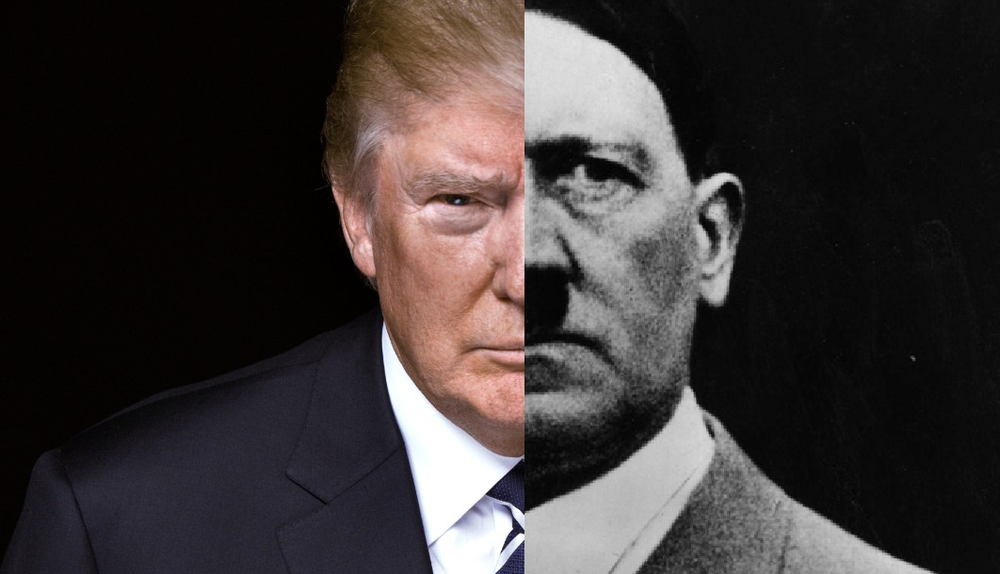 Half orange, half Hitler.