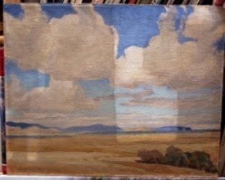 Maynard Dixon oil painting during test