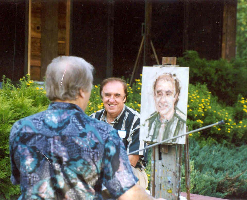 Joe Abbrescia painting portrait