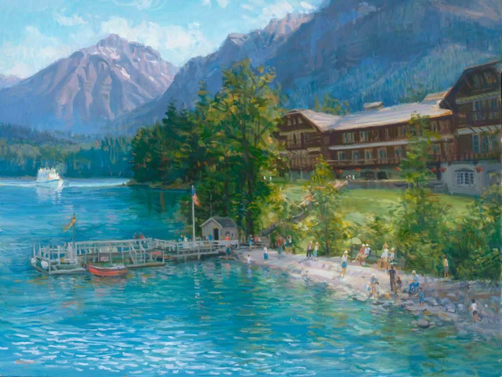 """""""Lake McDonald Lodge"""" by Joe Abbrescia"""