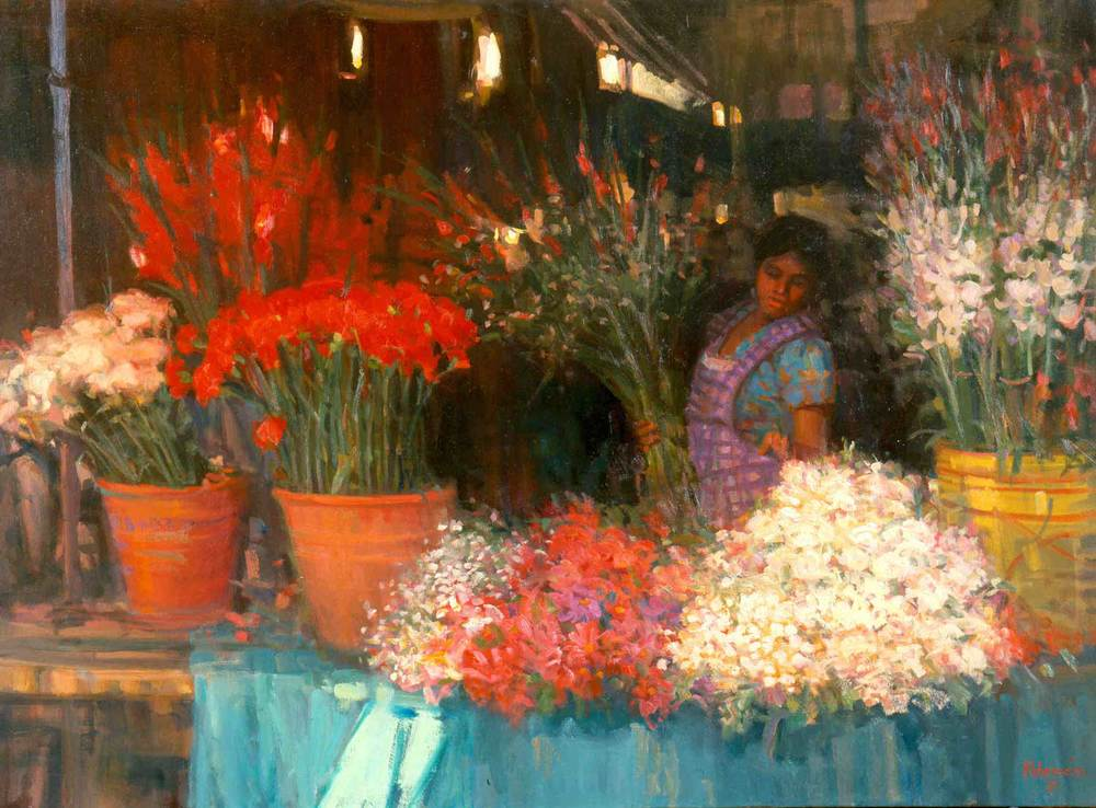 """""""Flower Market"""", by Joe Abbrescia"""
